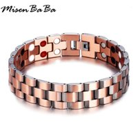 Men Bracelets Vintage Germanium Magnetic Wristband Energy Ba...