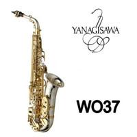 Yanagisawa A-WO37 Yüksek Kalite Alto Saksafon Enstrüman Pirinç Nikel Gümüş Yüzey Kılıfı Ağızlık Aksesuarları Ile Altın Key EB Sax