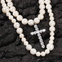 New Style 8- 10mm Double Pearl Necklace Set Size Mixed Beads ...
