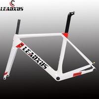 Leadxus disc الكربون الطريق الدراجة الإطار T800 من خلال المحور القرص الفرامل كربون ألياف الكربون دراجة الإطار XS / S / M / L / XL