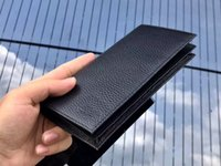 Vera pelle di alta qualità europea moda femminile americano Emile raccoglitore portatile Portafoglio nero di alta qualità frizione Con formato della scatola 19x9