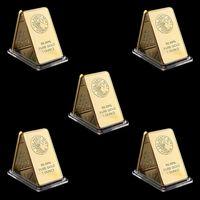 5 stücke Perth Mint Australien 1oz Gold Bar Handwerk Geburtstag Urlaub Geschenke Home Dekorationen Handwerk Gold Überzogene Bullion
