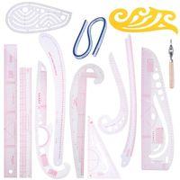 6/9 / 13PC / set DIY-skräddarsydda mönster Syverktyg Quilting Verktyg Kläder Patchwork Skärning Kurva Skräddarsydda Linjaler Craft DIY Kit