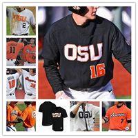 Oregon State Beavers OSU Beyzbol Dikişli CWS Jersey 3 Nick Madrigal 12 Sam Tweedt 14 Elliot Willy 15 Luke Heimlich Troy Claunch