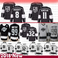 رجل لوس أنجلوس Kings 8 Drew Doughty Hockey Jerseys 32 Jonathan Quick 11 Anze Kopitar 99 Wayne Gretzky Jersey