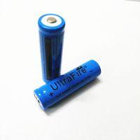 New 100% blue UltreFire 14500 battery 2200mAh 3.7V Rechargeable lithium battery for flashlig Free shipping