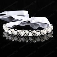 Luxus glänzenden Strass Blumen-Stirnband Hochzeit Braut Frauen Haarband koreanische Art-Haar-Schmuck Accessoires