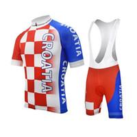 Croatie MEN cyclisme jeu jersey course rouge porter des vêtements de cyclisme pro équipe pad respirant gel 9D VTT Bergstraße vélo clo short vélo ensemble