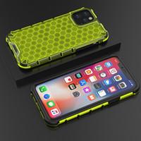 En nid d'abeille hybride Armure Clear Case pour iPhone antichocs 11 Pro XS MAX XR X 7 8 Plus Samsung S10 Note 10 Pro A10S A20S A50 M30S Huawe Xiaomi