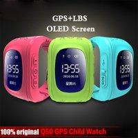 Anti Lost Q50 OLED Child GPS Tracker SOS Monitoreo inteligente Posicionamiento Teléfono Niños GPS Baby Watch Compatible IOS Android