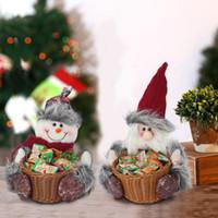 Sucrerie de Noël de stockage des paniers de Noël Décoration de table de Noël Père Noël bonhomme de neige de Noël Panier de rangement Parti cadeau Fournitures DBC VT1074