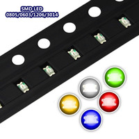 100 sztuk / partia SMD 0805/0603/1206/3014 LED Ultra Bright Red / Blue / Yellow / White Water Clear diod LED Light