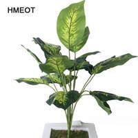 50 см 18 лист искусственного зеленого растения зеленые листья редиса Черепаха лист для украшения свадьбы бонсай дерево поддельные растения аксессуары