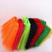 Filles Tutu Jupes Vêtements Star Kids Glitter Ballet Fancy Pettiskirt Sequin scène Dancewear Costume d'été Tulle Princesse Mini robe B5803-L