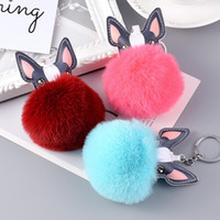 Cute Plush French Bulldog Key Chain PVC Lovely Dog Keychains...