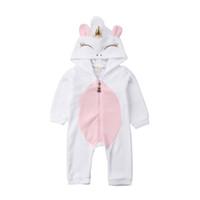 Animaux Mignons capuche Flanelle Romper Nouveau-né Enfant Bébé Vêtements fille Jumpsuit hiver vêtements chauds bébé 0-24M