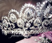 Heißer Verkauf Junoesque Sparkle Pageant Kronen Strass Hochzeit Brautkronen Brautschmuck Tiaras Haarschmuck glänzend Braut Diademe