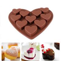 Herramientas de pastel Amor en forma de corazón Moldes de silicona Fondant Chocolate MoldTool Hornear Raspador 1pc