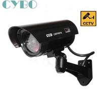 Telecamera TVCC di sicurezza fittizia finta esterna impermeabile Emulational Decoy IR LED Wireless Flash Rosso Led telecamera di sorveglianza fittizia