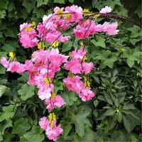 Gefälschte Kirschblüten-Blume Ast Begonia Sakura Baum Stängel 100cm lang für Event-Hochzeit künstliche dekorative Blumen