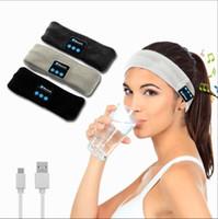 Bluetooth stickad musik huvudband kepsar trådlös Bluetooth hörlurar hörlurar som kör yoga gym hårband mössa LJO5712