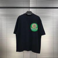 JESÚS ES REY venta caliente logotipo verde transpirable Tee Domingo Servicio camiseta impresa letra camiseta de los hombres mujeres de la camiseta de manga corta de verano simple