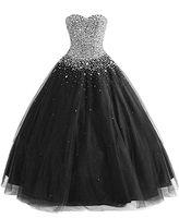 Sexy preto vestido de baile quinceanera vestidos de baile foto real longo querido strass cristal de lantejoulas frisado tule doce 16 vestidos de vestido