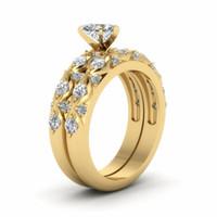 Пара Кольца мужские 8мм титана стальное кольцо и женщин 18K желтое золото Сердце Cut бриллиантовое кольцо невесты Свадебные украшения