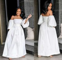 Diseño Estilo Vestido Moda Plus Tamaño Mujer Ropa Para Mujer Vestidos Casual Vestidos Color Sólido Cuello Cuello Arco