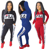 Brand Women Fall Winter Hoodies Tracksuit 2 Piece Set Tops+ P...
