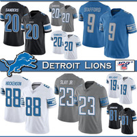 20 Barry Sanders Detroit Football Jersey Lion 9 Matthew Stafford 88 T.J. Hockenson 23 Darius Slay JR 19 Kenny Golladay 81 Johnson jerseys