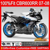 2SETS Injektion för Honda CBR600RR 07-08 Fairing Kit1 CBR600RR 07-08 Strålkastare + 3 R6 2008 1 ZX6R 2007 ReSSeats + 1 GSXR600 2008 BakgrundsRest