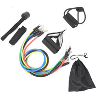 Latex Fitness-Widerstand-Bänder Crossfit Training Exercise Yoga Tubes Pull Seil, Gummi-Expander-elastische Band-Fitness mit Beutel 11 Stück / Set