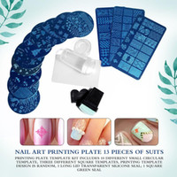 13st Lace Rose Flower Forest Image Nail Plates + 2 Stamper Scraper Set Nail Art Stamping Plate Art Tools