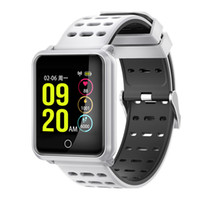 Pressão N88 relógio inteligente Sangue Heart Rate Monitor Smartwatch de Fitness Rastreador IP68 impermeável inteligente pulseiras para IOS Android Phone Watch