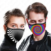 Adults Reusable Face Mask Tie- dyed 3D Digital Printed Design...
