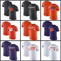 Clemson Tigers línea lateral leyenda Rendimiento camisetas de manga corta impresa O-Cuello T Escuela de Fútbol Los deportes de equipo camisetas