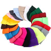 28 colors Solid kids designer hats Cotton Knitted Hat luxury...
