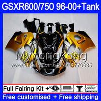 Корпус Golden black hot+бак для SUZUKI SRAD GSXR 750 600 GSXR600 96 97 98 99 00 291HM.2 GSXR-600 GSXR750 1996 1997 1998 1999 2000 обтекатели