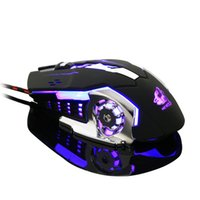 DPI 4000 Computer Mouse Mouse da gioco optoelettronico Ratto meccanico Wrangler Mouse Wired Game Desktop Machine Silent Mute Edition