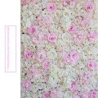 ارتفع الاصطناعي 40x60 سنتيمتر مخصصة الألوان الحرير روز زهرة الجدار الزفاف الديكور خلفية زهرة الجدار الاصطناعي رومانسية EEA1587