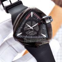Lxuury Yeni Ventura H24585331 XXL Oto Macera Ve Konsept Tasarım Üçgen PVD Çelik Siyah Otomatik Erkek İzle Kauçuk Timezonewatch Dial