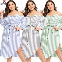 2019 Casual Large Big Plus Size Summer Lady Dresses Sling Lo...