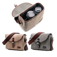 Retro Waterproof Camera Bag Photography Package DSLR Shoulde...