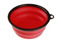 10PCS بالجملة محمول جديد صحن الكلب السلطانية طوي كأس توسيع لالقطة الأليفة الكلب الغذاء المياه السلطانية التغذية