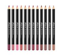 Moda NAGETA Lip Liner lápis Set 12 cores Matte Kit lipliner Com Box Black Rod Lip Pencil 12 Pcs impermeável Set Lips Makeup