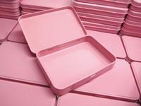 Scatole di metallo rosa scatola di imballaggio cosmetico regalo promozionale regalo scatola di latta ombretto custodia in metallo taglia 133x88x20mm
