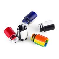 510 Tema Resina Epoxi Drip Tip arco iris arco iris Vape Boquilla para TFV12 Príncipe Vape Consejos goteo SMOD-014