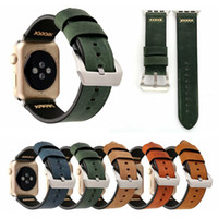 Bande di cinturino da orologio in vera pelle retrò per cinturino per orologio apple 38mm 42mm designer di ricambio cinturino da polso da polso cintura per le donne uomini