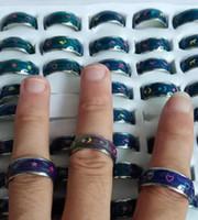 Großhandelsdruckring-Stimmungsringfarben Pfirsichherz, Buchstaben, Symbole der Friedensstimmungsring-Mischungsentwurfs-Mischungsgröße